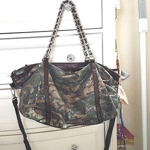 New Express Camoflauge Camo Sequin Large Bag